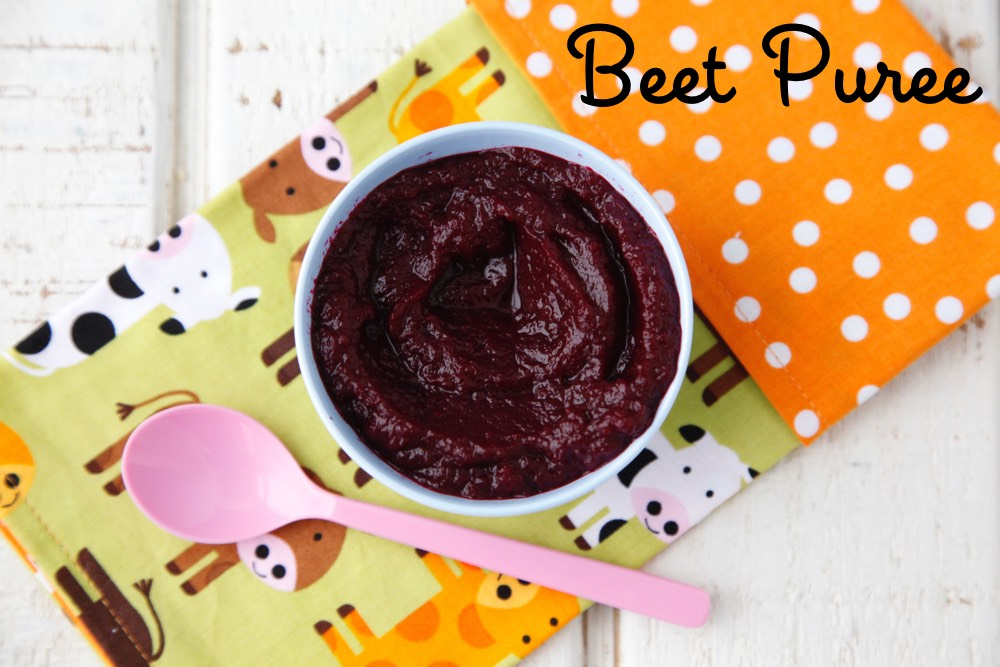 Beet Puree baby food from weelicious.com