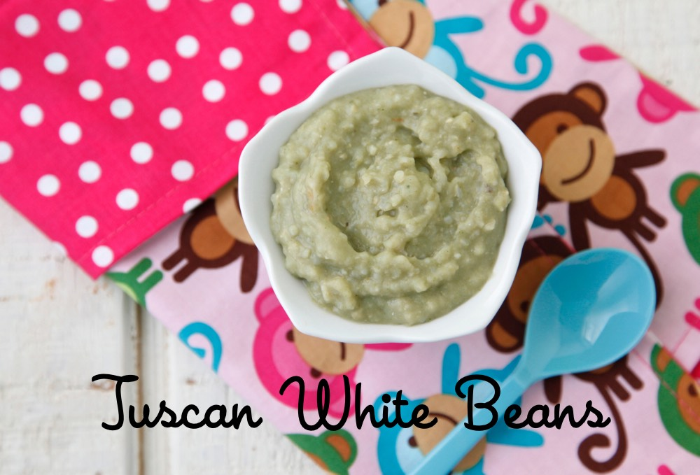 Tuscan White Beans Baby Food from Weelicious