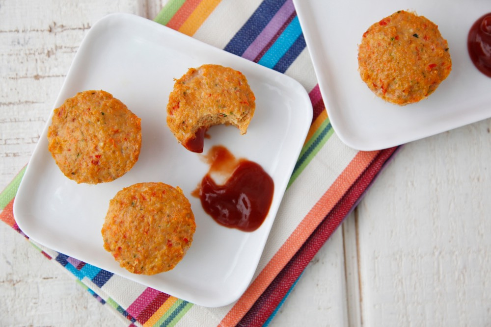 Cheesy Turkey Meatloaf Bites from Weelicious