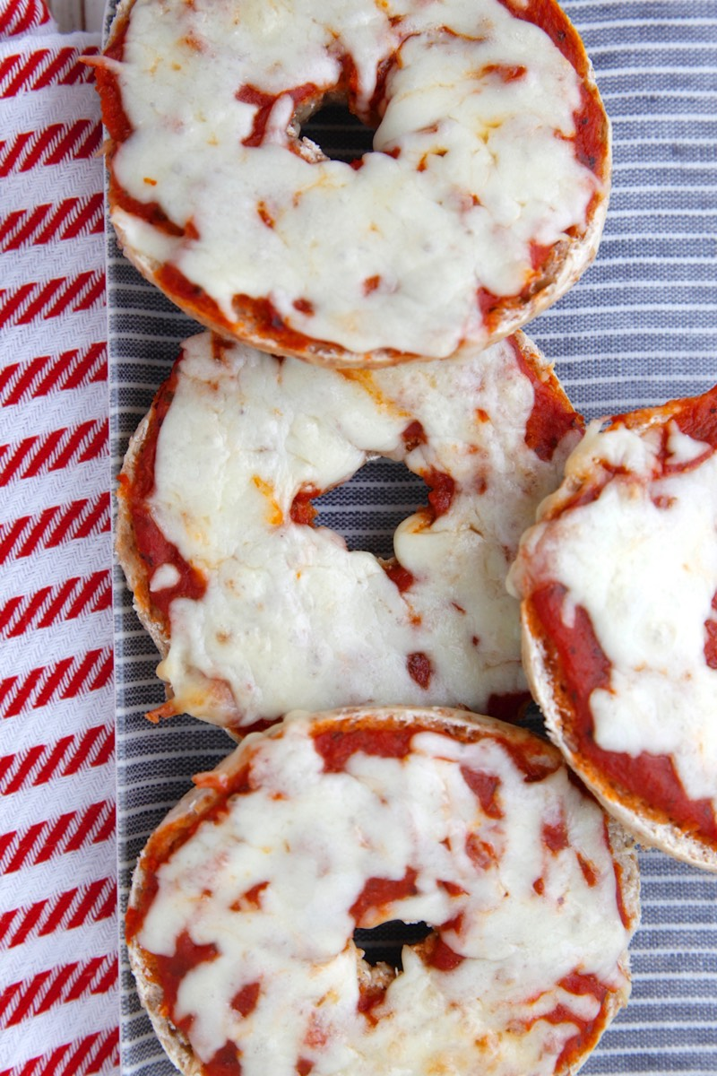 Pizza Bagels from weelicious.com