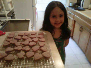 Emma made Raspberry Shortbread Hearts