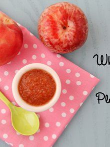 White Peach and Pluot Puree