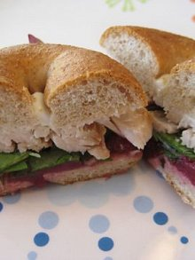 Turkey Cranber-Wee Bagel Sandwich