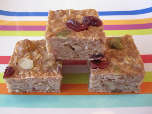 Oatmeal on the go Bars