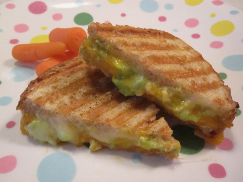 Grilled Two Cheese Avocado Sammie