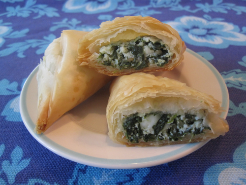 Image Gallery spanakopita triangles