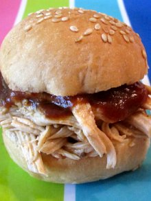 Shredded BBQ Chicken Sammie
