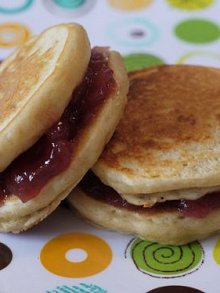 Peanut Butter & Jelly Pancake Sandwiches