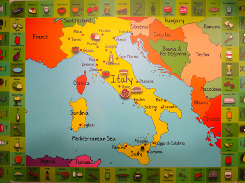 Kids Map Of Italy