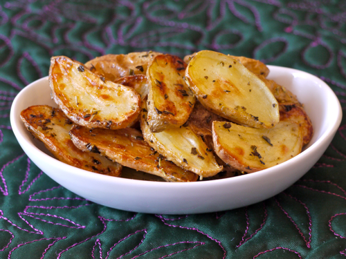 Herb Garlic Roast Potatoes Recipe — Dishmaps