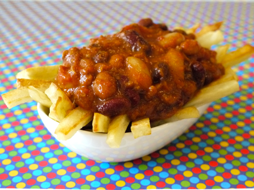 Oven Baked Chili Cheese Fries