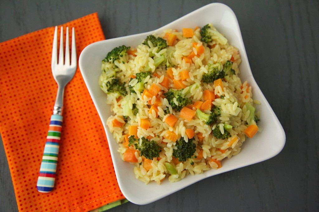 Carrot, Broccoli and Cheese Orzo | Weelicious