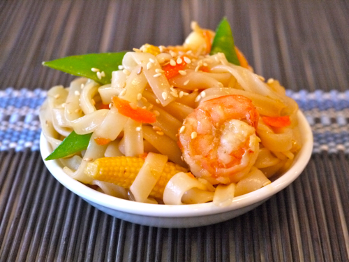 Stir-Fried Shrimp with Rice Noodles