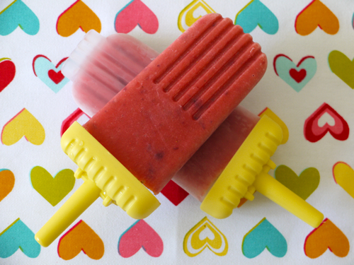 Peach & Strawberry Popsicles
