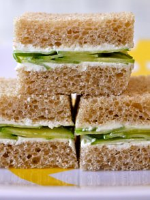 Cucumber Cream Cheese Sammies