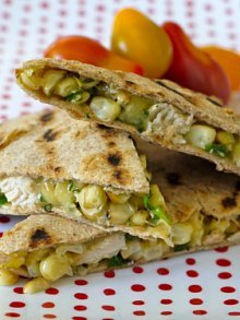 Grilled Chicken & Corn Quesadilla