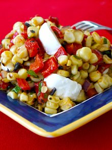 Grilled Corn & Red Pepper Salad