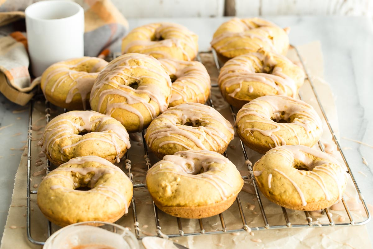 Baked Pumpkin Donuts from weelicious.com