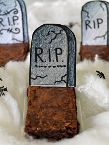 Gravestone Brownies