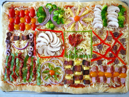 Quilt Pizza- Perfect for Birthday or Slumber Parties