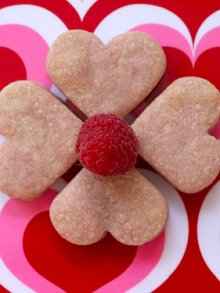 Raspberry Shortbread Hearts