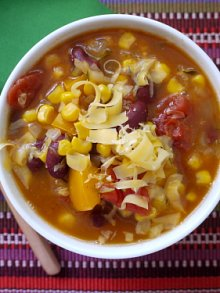 Crock Pot Mexican Corn and Bean Soup