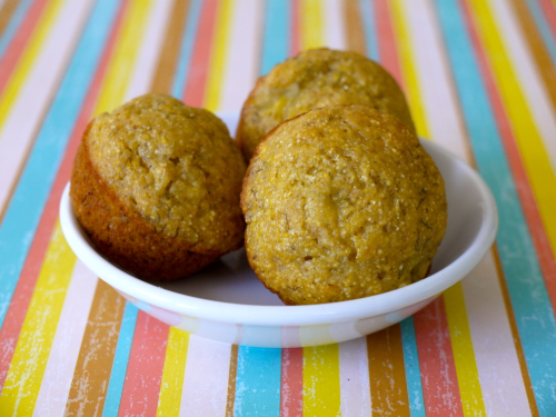 Banana Corn Muffins Recipe — Dishmaps