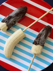 frozen bananas on a stick