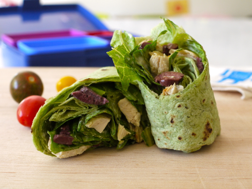 Chicken Caesar Wrap 10 fast back to school sandwich recipes 