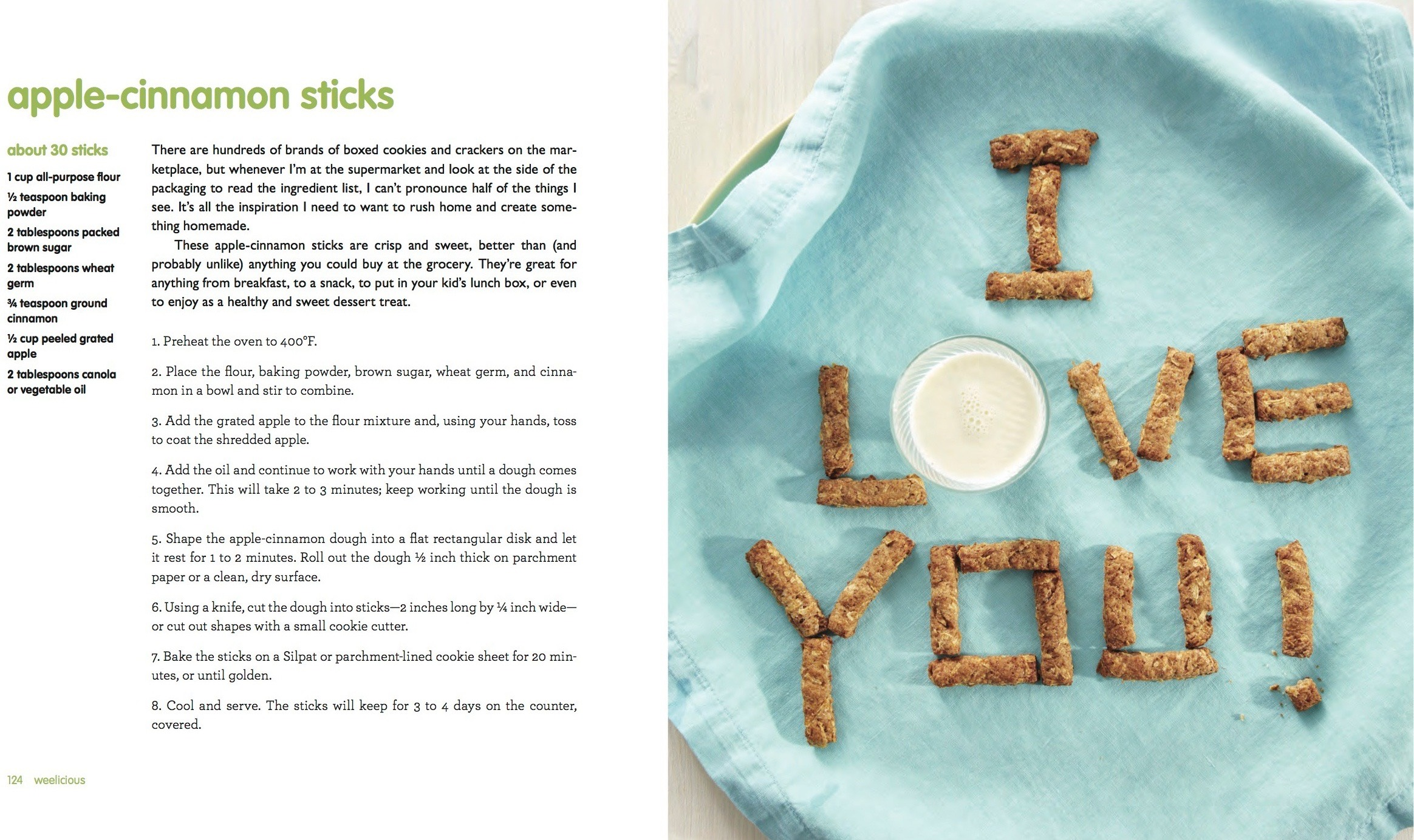 Apple Cinnamon Sticks from Weelicious