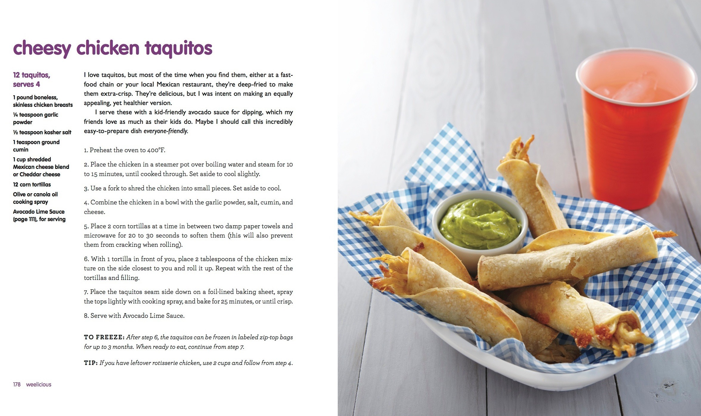 Cheesy Chicken Taquitos by Weelicious