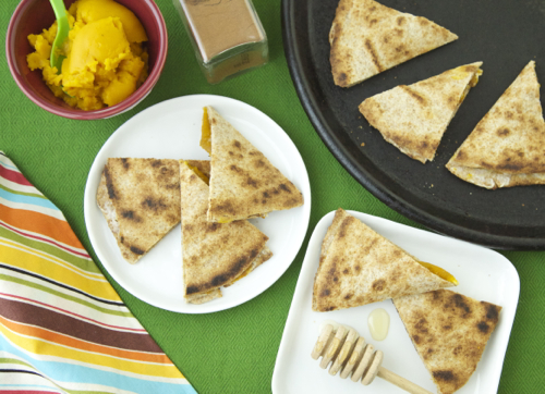 Pumpkin Quesadillas Recipe — Dishmaps