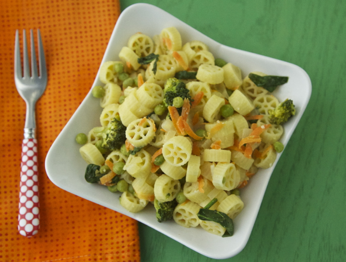 The idea for this Bright Vegetable Pasta came from a weelicious reader ...