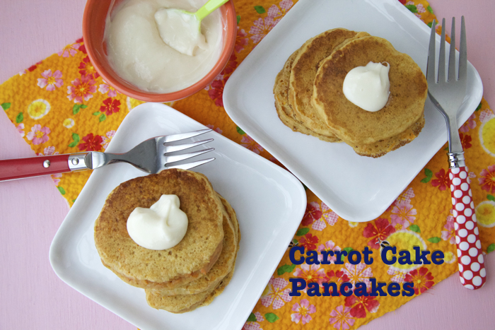 Carrot Cake Pancakes for Easter