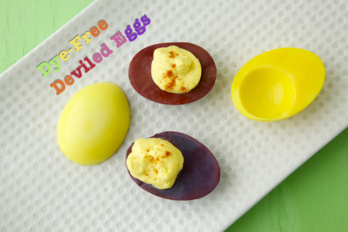 Dye-Free Deviled Eggs