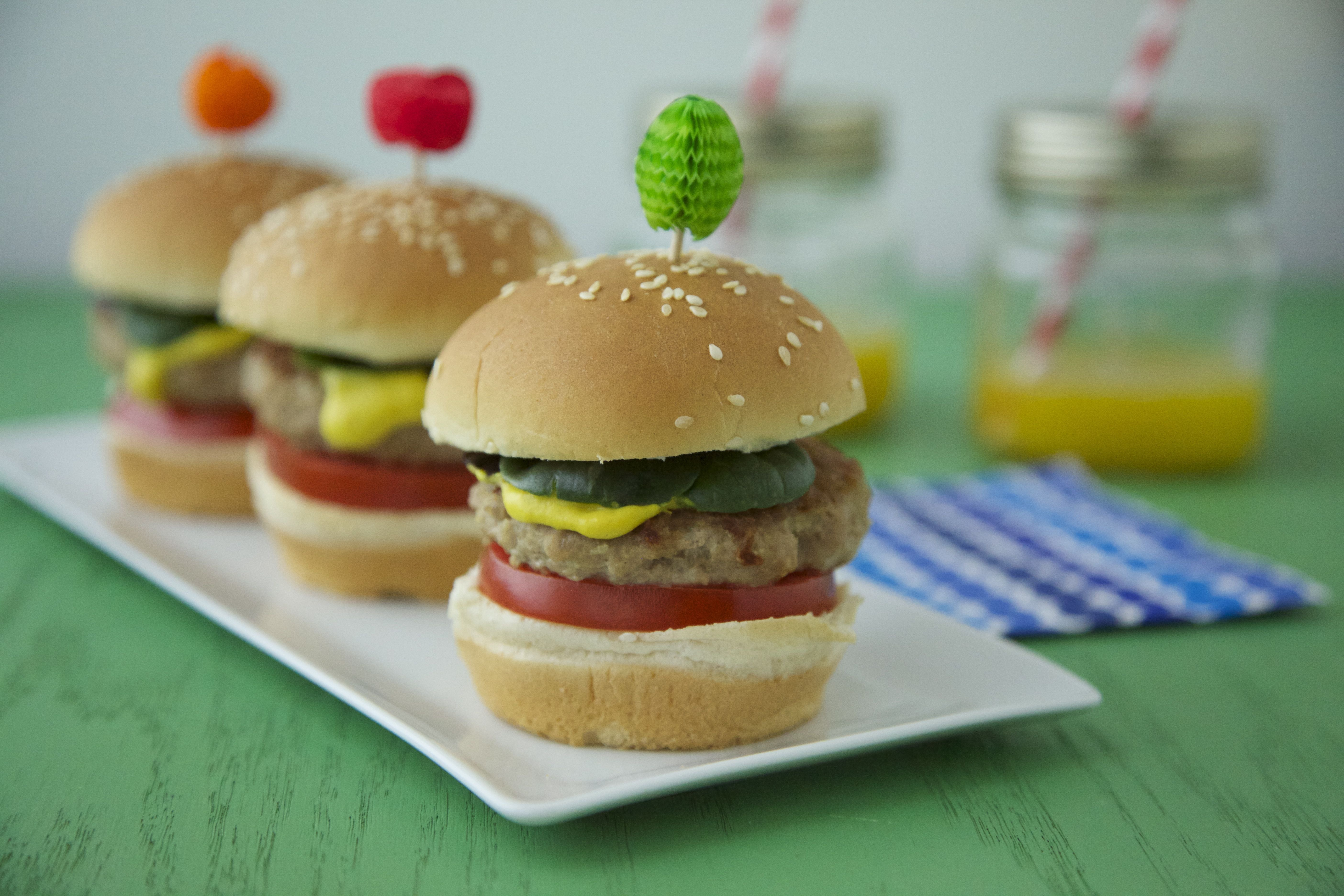 NIlva's Ground Turkey Burgers