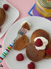 Chocolate Coconut Pancakes