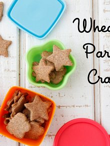 Wheat Germ Parmesan Crackers