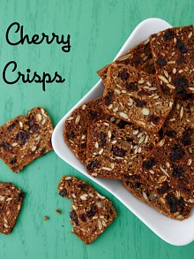 Dried Cherry and Seed Crisps