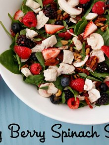 Very Berry Spinach Salad