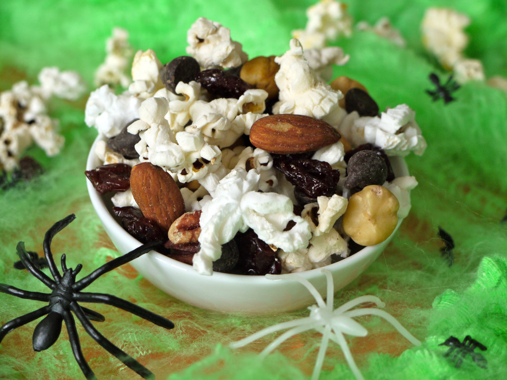 Popcorn Trail Mix . Plus a video for how to make them.