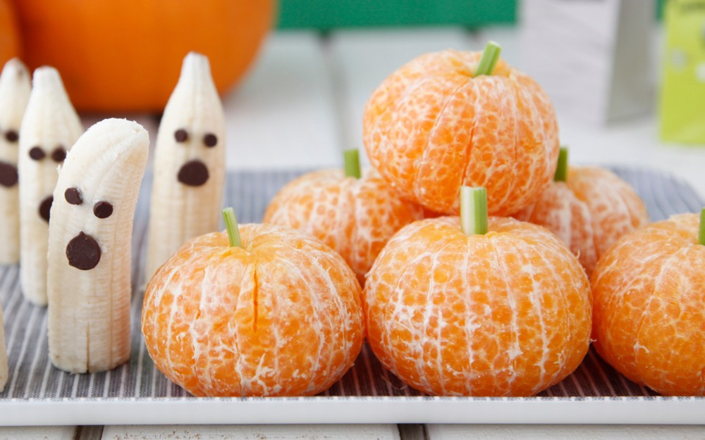 Tangerine Pumpkins and Banana Ghosts from Weelicious