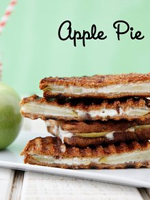 Apple Pie Panini from The Ultimate Panini Press Cookbook by Kathy Strahs