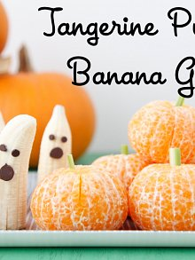 Tangerine Pumpkins + Banana Ghosts