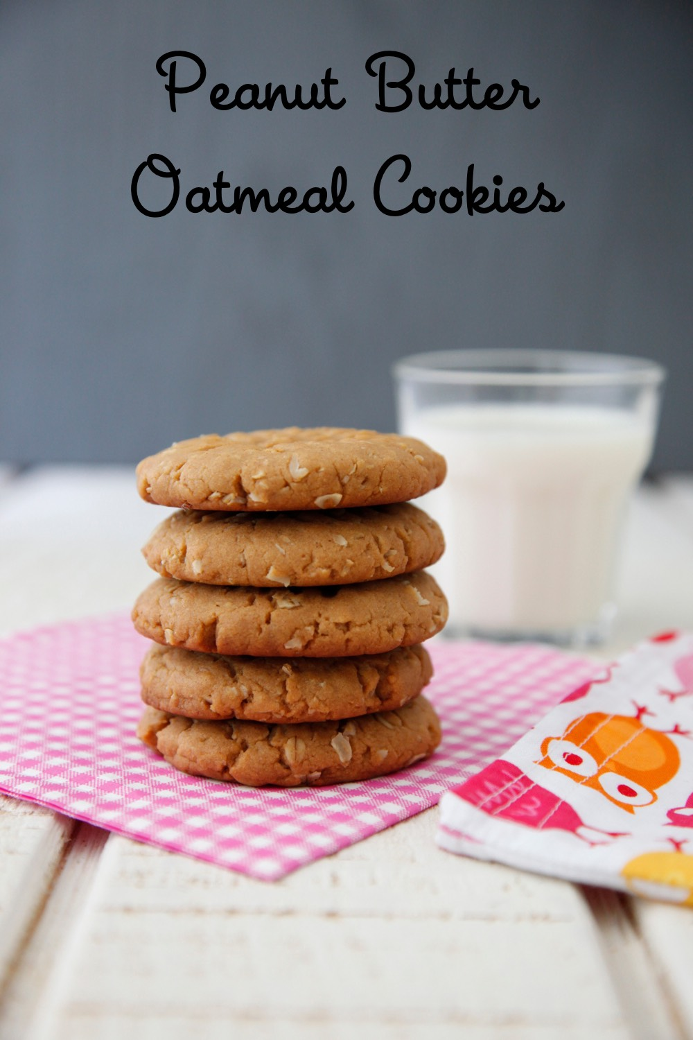 Peanut Butter Oatmeal Cookies + Giveaway