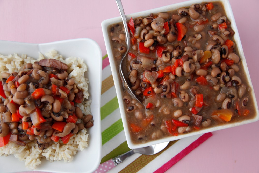 Slow Cooker Black Eyed Peas ( makes 6-8 servings )