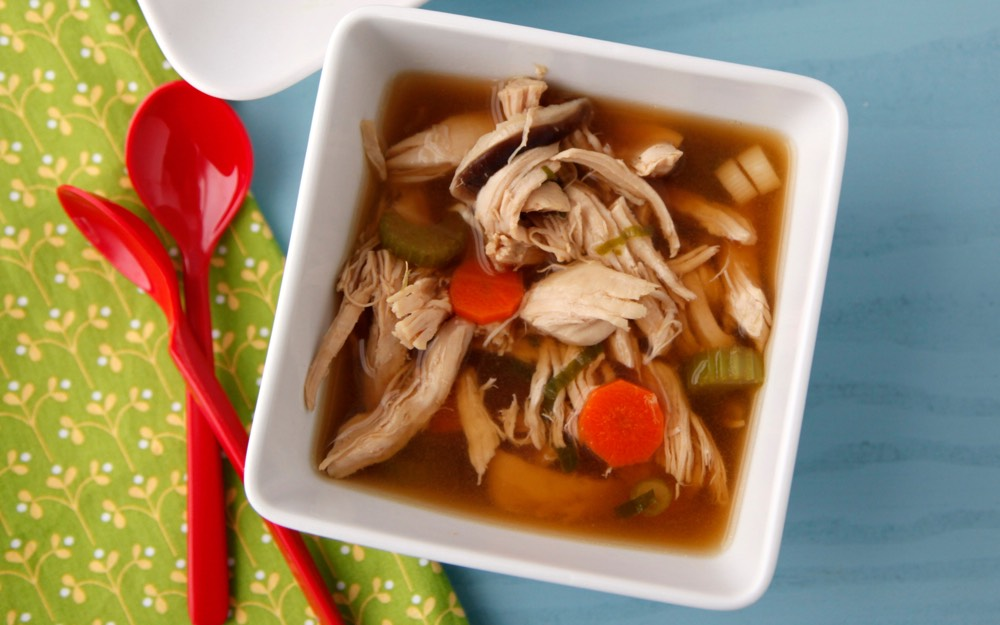 Quick Homemade Chicken Soup for The Sick | (soups) | Pinterest