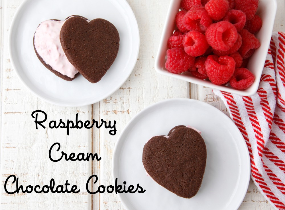Raspberry Cream Chocolate Cookies from Weelicious