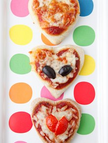 Heart Pizzettes