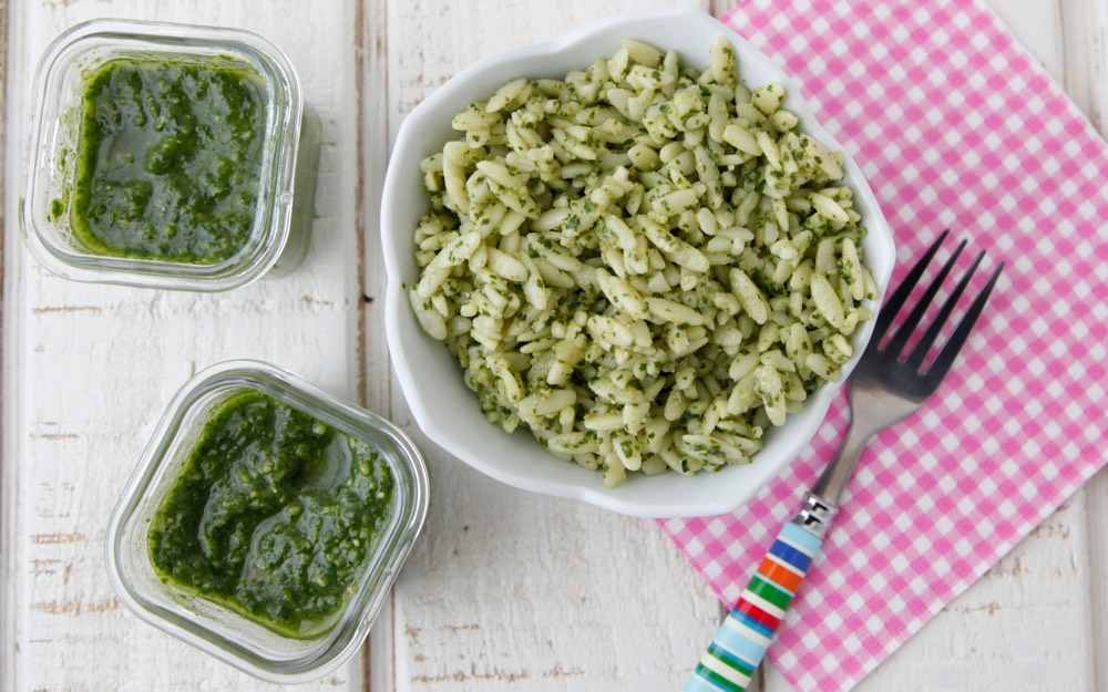 Everyday Basil Pesto Video from Weelicious
